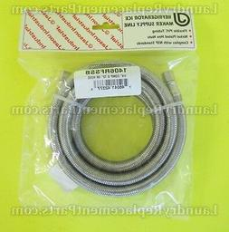 "1/4 COMP x 72"" IM STAINLESS STEEL HOSE FOR REFRIGERATOR PART"