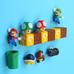 10pcs 3D Super Mario Bros Fridge <font><b>Magnets</b></font>