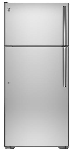 GE 15.5 cu.. ft. Stainless Steel  Top Freezer Refrigerator E