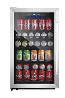 Kalamera 150-can Beverage Refrigerator Stainless Steel Touch