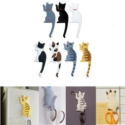 1pcs Cartoon Cat Fridge <font><b>Magnet</b></font> Hook <fon