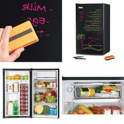 3.2 cu. ft. Dry Erase Board Mini Fridge, Black