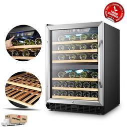 LANBO 44 Bottle Dual Zone Wine Refrigerator Built-in Counter