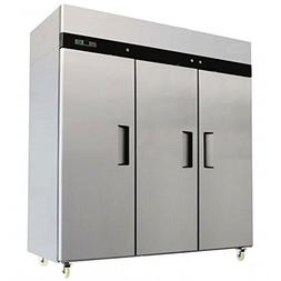Commercial Three 3 Triple Door Stainless Reach In Refrigerat