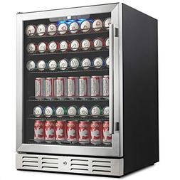 "Kalamera 24"" Beverage Refrigerator 175 Can Built-in Single Z"