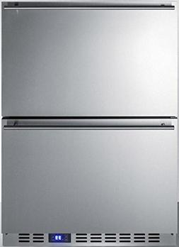 Summit SPR627OS2D Built-in Drawer Refrigerator, Stainless St