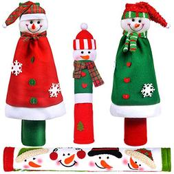 OUGAR8 Adorable Snowman Refrigerator Handle Covers Set | Cut