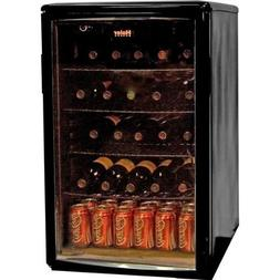 Haier HBCN05EBB 96-Can/35-Bottle Wine and Beverage Center Mi