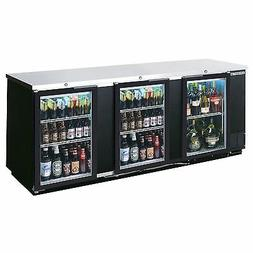 Beverage Air BB94G-1-B, 95-Inch Back Bar Refrigerator with 3