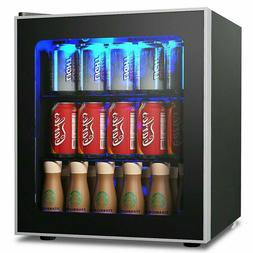 COSTWAY Beverage Refrigerator and Cooler 60 Can Mini Fridge