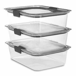 Rubbermaid Brilliance 100% Leak-Proof Three Large Containers