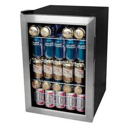 """EdgeStar BWC90SS Stainless Steel 17""""W 84 Can Beverage Cooler"""