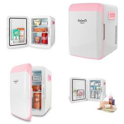 Classic 0.35 Cu. Ft. Retro Mini Fridge In Pink Without Freez