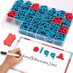 Gamenote Classroom Magnetic Letters kit with Double-Side Mag