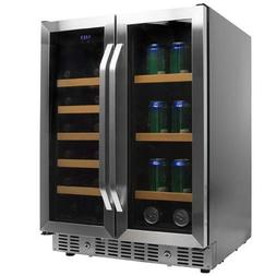 EdgeStar CWB1760FD 24 Inch Wide Wine and Beverage Cooler wit