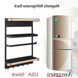 Dual layers Refrigerator Magnets Rack Wall Mount Kitchen Sto