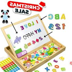 JQP Toys XL Educational Magnetic Letters Numbers Animals Set