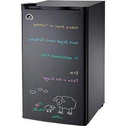 Igloo FR326M-D-BLACK Erase Board Refrigerator with Neon Mark