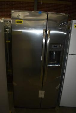 """GE GSS23GSKSS 33"""" Stainless Side By Side Refrigerator NOB #4"""