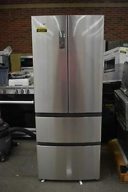 "Haier HRF15N3AGS 28"" Stainless CD French Door Refrigerator N"