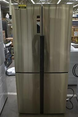 "Haier HRQ16N3BGS 33"" Stainless French Door Refrigerator NOB"