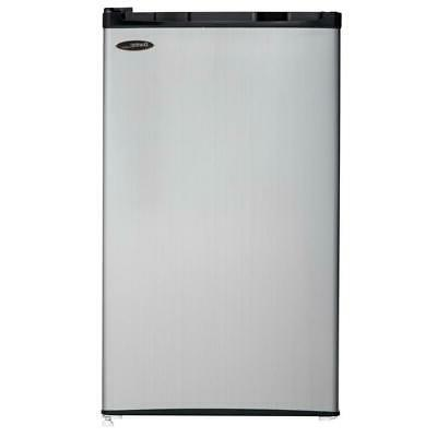 Danby 3.2 cu. ft. Mini Fridge in Black with Spotless Steel