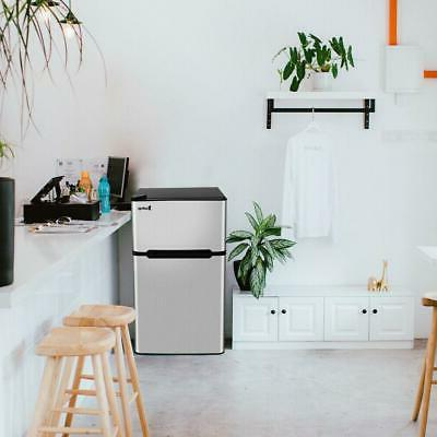 2 Stainless Compact Freezer Fridge With