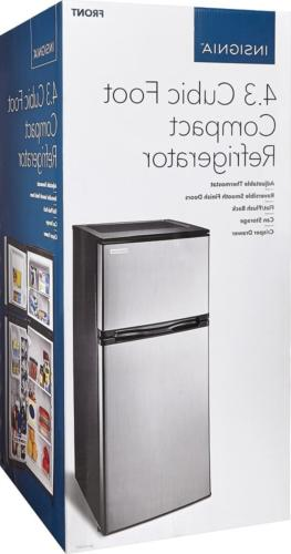 Insignia- 4.3 Top-Freezer Stainless steel