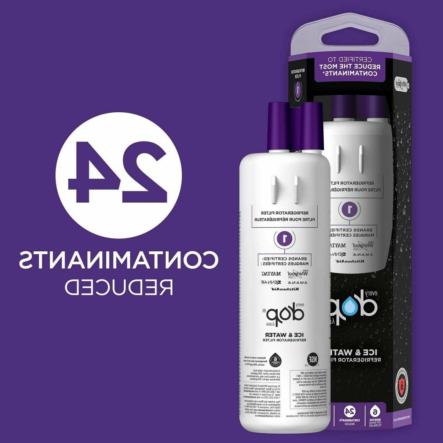 6 month refrigerator water filter replacement cartridge