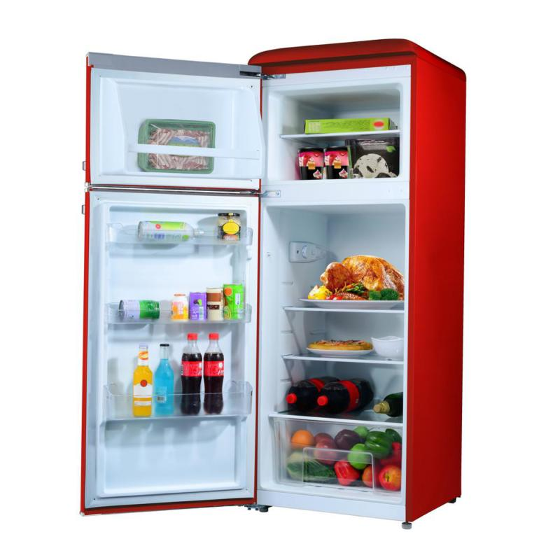 7.6 cu.ft. Retro Refrigerator with and Red