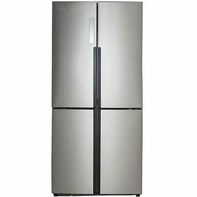 Haier - 16.4 Cu. Ft. Counter-depth Refrigerator - Stainless