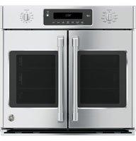 "GE Cafe CT9070SHSS 30"" Single French Door Electric Wall Oven"