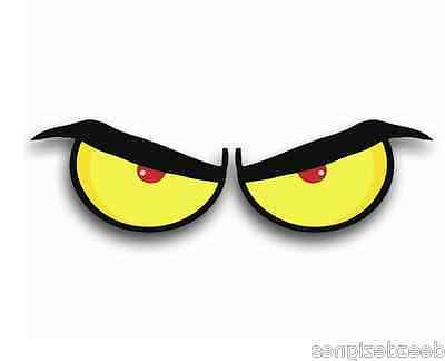 eyeball stickers angry decals 1 set pick