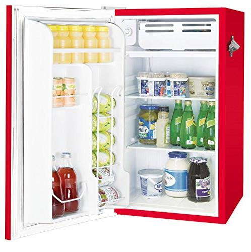 Igloo Retro Bar Fridge with Bottle Opener, Red