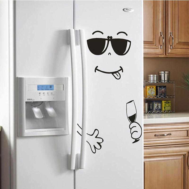 Fridge PVC Waterproof Removable Wall Sticker Face