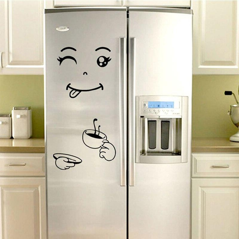 Fridge <font><b>Magnets</b></font> Removable Wall Face Fridge <font><b>Refrigerator</b></font> Decoration Kitchen Supplies