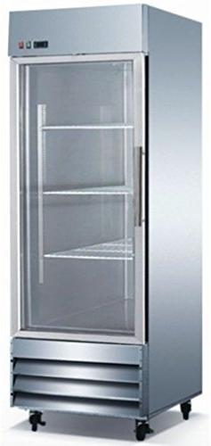 Glass Door Upright Commercial Reach In Stainless Steel Refri