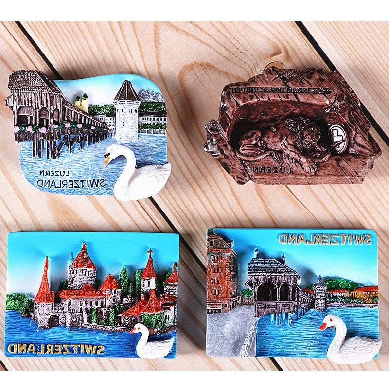 Magnetic <font><b>refrigerator</b></font> Switzerland countries Tourist Home decoration