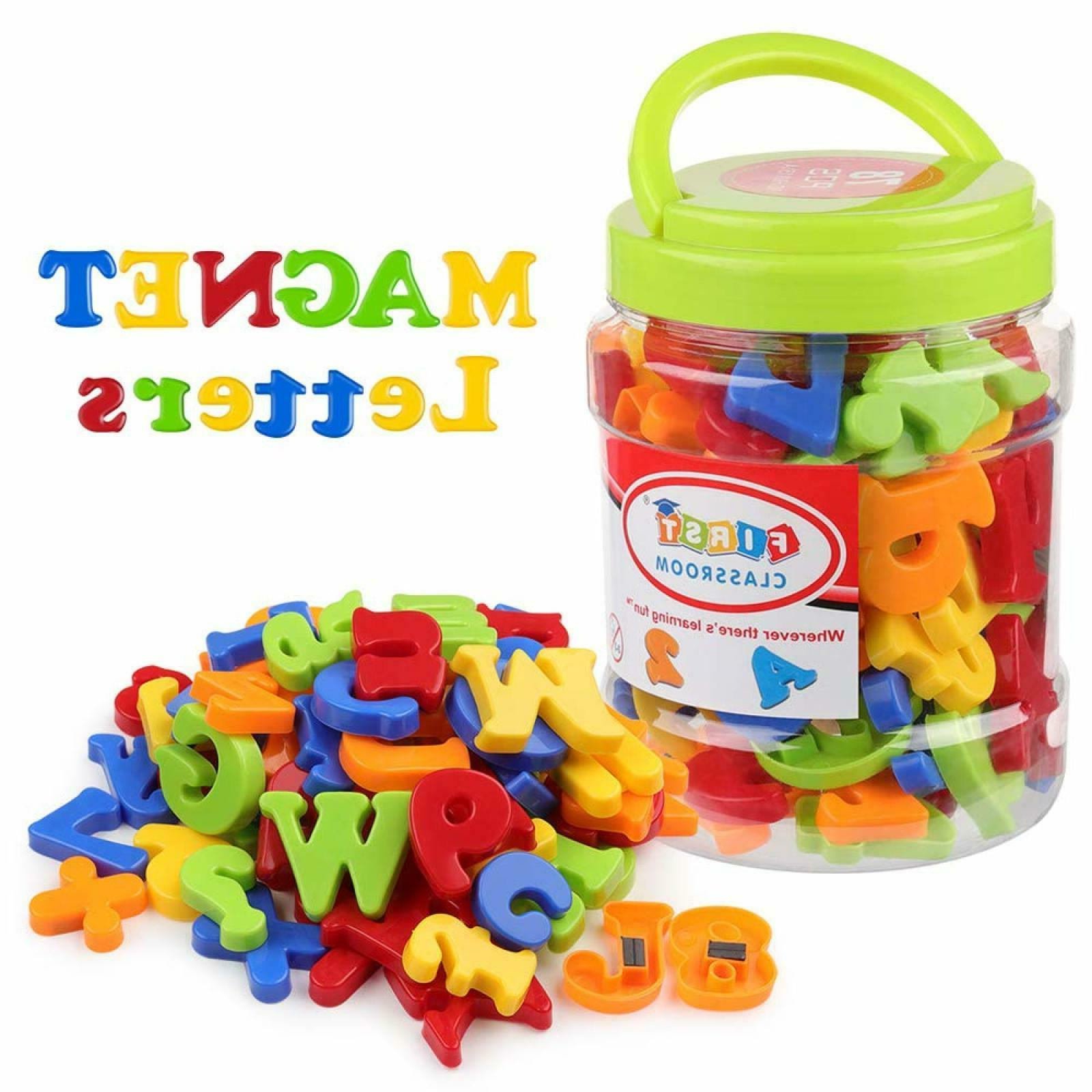 magnetic letters numbers alphabet fridge magnets colorful