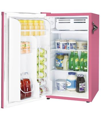 New Pink Retro Compact Refrigerators Cooler Office