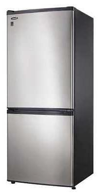 DANBY DFF092C1BSLDB Refrigerator, Bottom Freezer, 9.2 cu.ft.