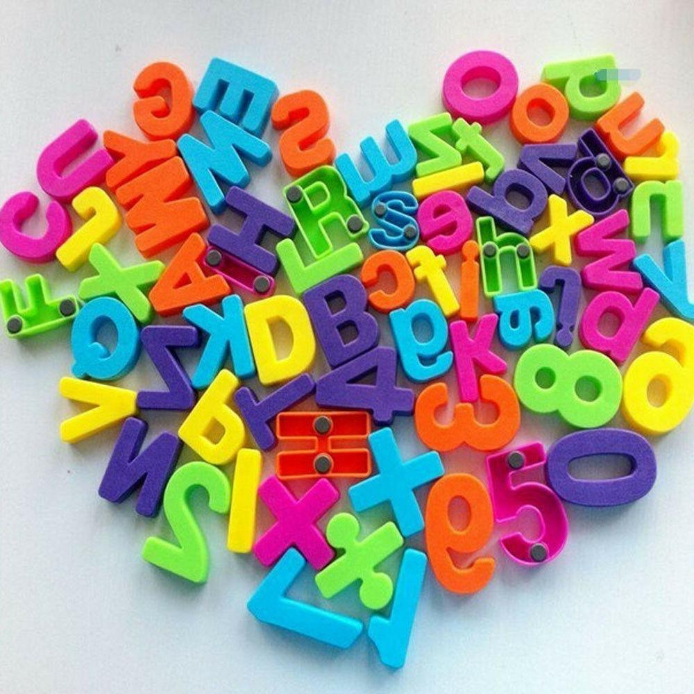 set of 26 colorful teaching magnetic numbers