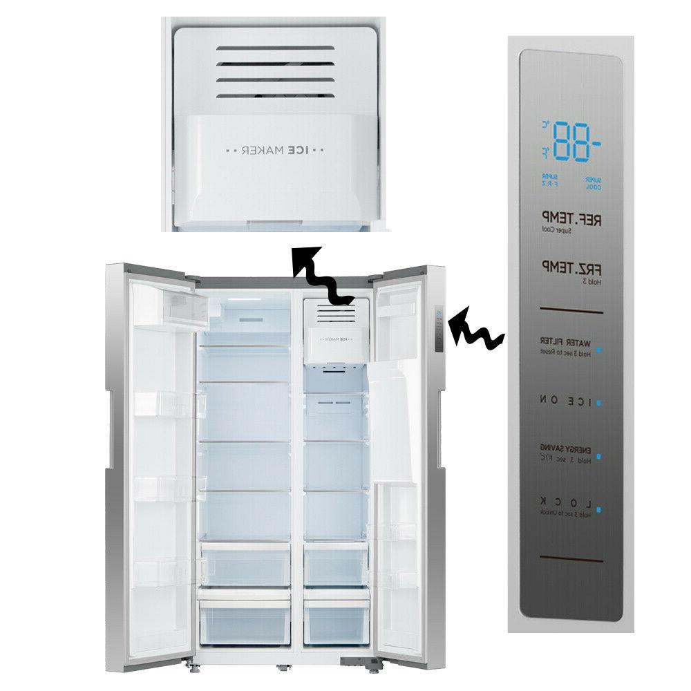 Side-by-Side Refrigerator Stainless Steel US