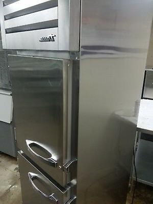 STA1DT-2HS Dual Refrigerator Freezer New with cosmetic