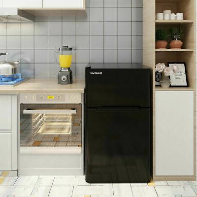 Stainless Steel Freezer Fridge Compact 3.2 cu ft.