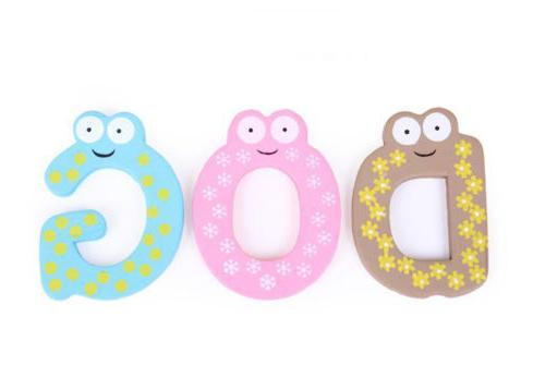 Wood Cute Magnet Alphabet Number Early Educational Kids Toy
