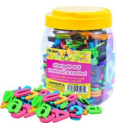 Star Right Magnetic Letters and Numbers - 104 Educational Al