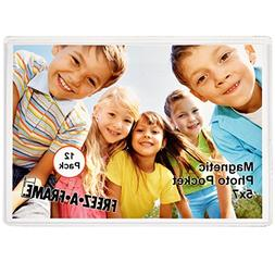 12 Pack 5 x 7 Magnetic Picture Frames Pockets Sleeves Holds
