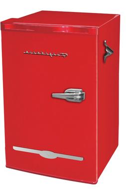New Red Retro 3.2 Cu. Ft Mini Fridge Compact Refrigerators S