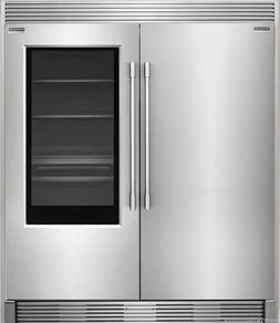 pro stainless refrigerator freezer combo and trim